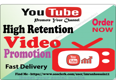 Guaranteed Nondron HIGH Quality Organic Video Promotion