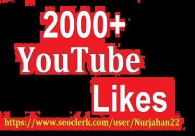 Super Fast 2000+Real Non Drop YouTube Likes +10 Comment Bonus 24-48 Hours in Complete