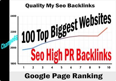 Seo Backlinks From Top Biggest Websites