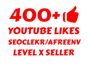i will add Super Fast 400+ YOUTUBE LIKES