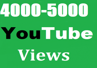 Real give you 4000-5000 youtube views+2 like. 1-12 hours delivery