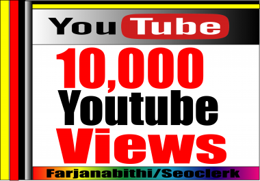 HQ Retention Supper Fast 5,000-10,000 High Quality adsense safe Youtube  vidoe Views on your Video