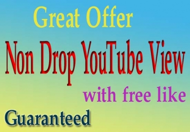 Give you 1000 YouTube VlEWS + 100 LlKES