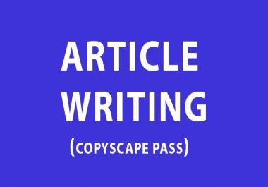 Write a 500 Word Original,Well Researched ARTICLE