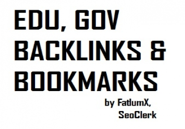 List of 21 EDU profile backlinks, 7 GOV profile backlinks & 50 High Quality Social Bookmarks