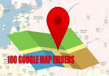 embed your google map or business google map in 100 web 2.0 sites
