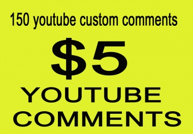 Special offer  USA/UK/GERMANY 150+ youtube custom comments and 100 Subscribers