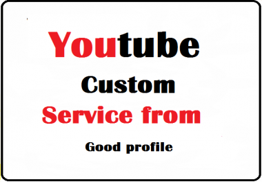 YouTube Videos Promotion From Good Profile
