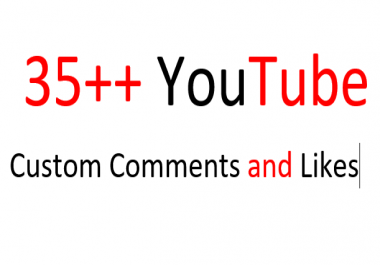 Instant add 35 YouTube Custom Comments with 35 Likes on your video