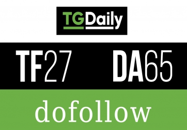 Publish Guest Post On TGDAILY tgdaily.com ( DA - 72/ PA - 77) Do-Follow