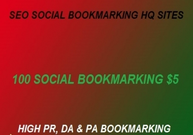 Buy 250 Social Bookmarking DA,PA with High Backlink