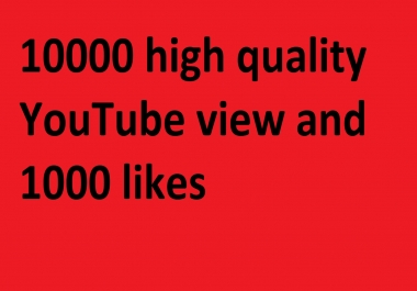 10000 high quality YouTube v!ew only