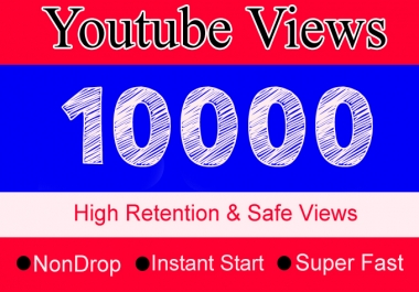 10K YouTube Views with 100 Likes Or 10,000 Or 10000 Youtube Video Views