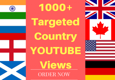 1000+ Targeted country youtube video boost