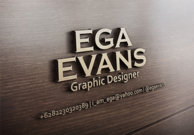 Create your name, logo, or your text into 3D wooden design