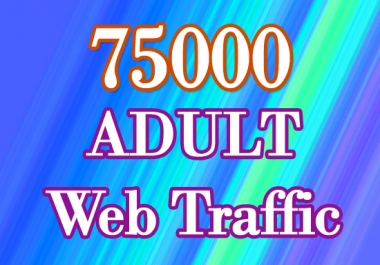 75000 Quality Targeted 18+ Web Traffic