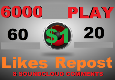 6000 play+60 like+20 repost+8 comments