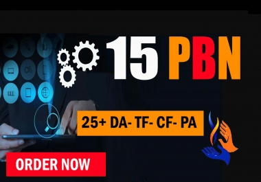 Create 15 High PA DA TF CF 40+ to 20, PBN Backlinks - Homepage Powerfull  Links