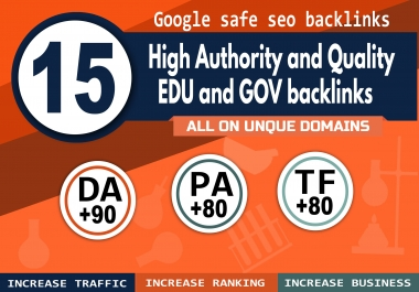 cheap manually 15 high authority EDU and Gov backlinks