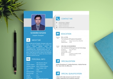 Design Amazing Cv RESUME  For You