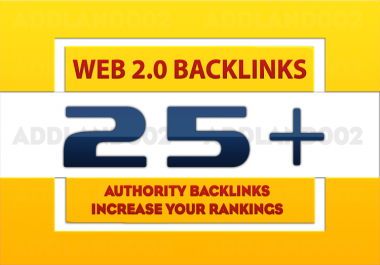 help you rank First in Google 20+ Web 2.0 High Page Rank Authority Backlinks