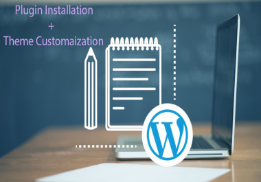 Word-press plugin installation and theme customization