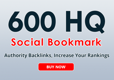 600+ social bookmarks to your site within 3 day