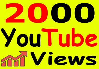Get 1000+ You-Tube Vie'ws & Bonus Lik'es with High Retention lifetime guarantee