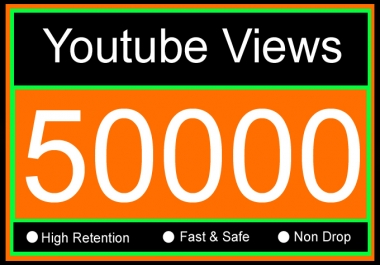 50K Or 50000 Or 50,000 YouTube Views with 100 Youtube Video Likes