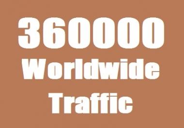 360000 Web Traffic Worldwide for 40 days