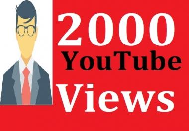 2000+ You'tube Vie'ws + 100 Bonus Li'kes 12/24 Hours in Complete