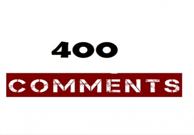 400 NON DROP Social Media Instant Comments