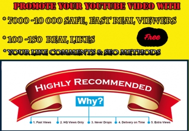 promote Your Video to REAL People 1000-5000 views Likes with Comments shares subs FREE