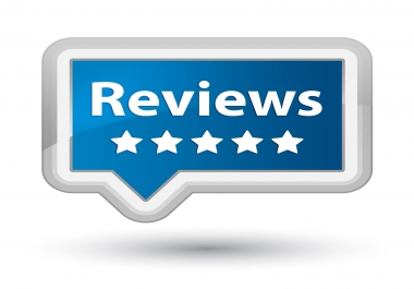 Make 50 reviews to advertise your company or product