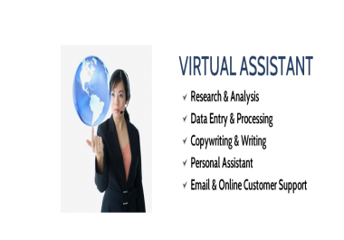 work as your full time virtual assistant