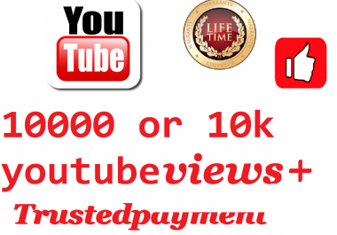 inistant start 10000 or 10k video views+10 like+1 comment comment  bonus 24-48  hours  delivery when i online