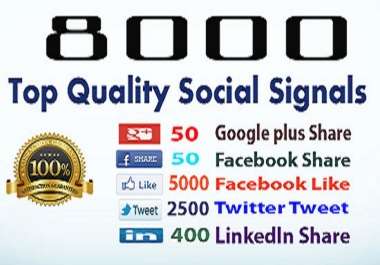Drip Feed 8000 Social Signals, To Website Improving for 15 days