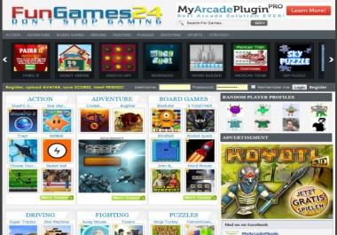 create flash gaming site