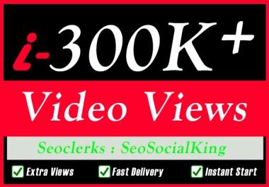 55,000 World Wide Video Views Promotion Or 500 Likes Or 100 Comments Social media Marketing