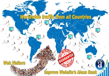 Send 4.000 real Worldwide website traffic visitors from all Countries