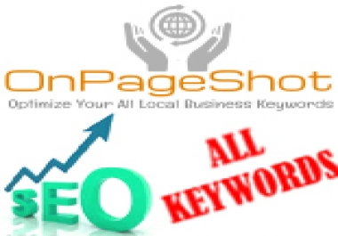 500+ Keywords - Highly Intensive SEO Shot - Dominate Locally - Boost Your Website's Ranks For Hundreds of Keywords on Google's Top Pages- Explode With 500+ Keywords Optimization