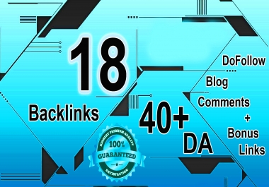 18 DoFollow Blog Comments HIGH DA 40+