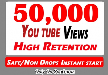 50000 Or 50k Or 50,000 YouTube Views