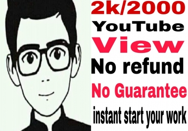 i will give you 2k/2000 video promotion no guarantee