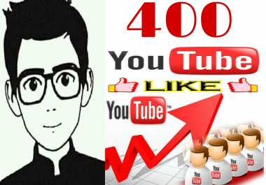 Get instant 400+ YT video likes OR 70+ YT manually non drop subscriber very fast in 2-3 hours