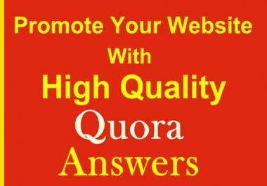 Promote your website with Contextual Link on Quora