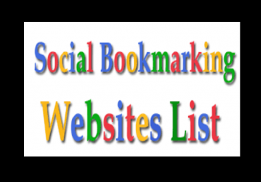 create 50 Social  Bookmarking Backlinks for you