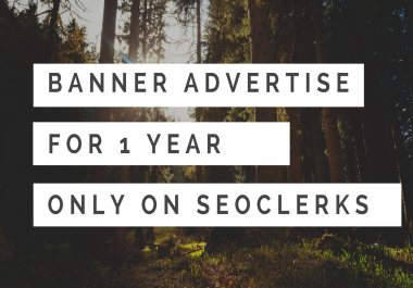 Advertise Your Banners On my Business for 1 year