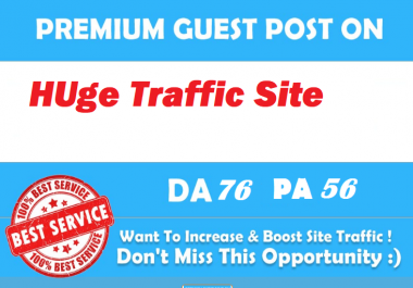 Guest Post On Google News Approved Huge Traffic Site DA75
