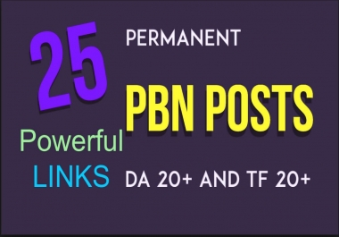 Do 25 permanent PBN contextual backlinks trust flow 20